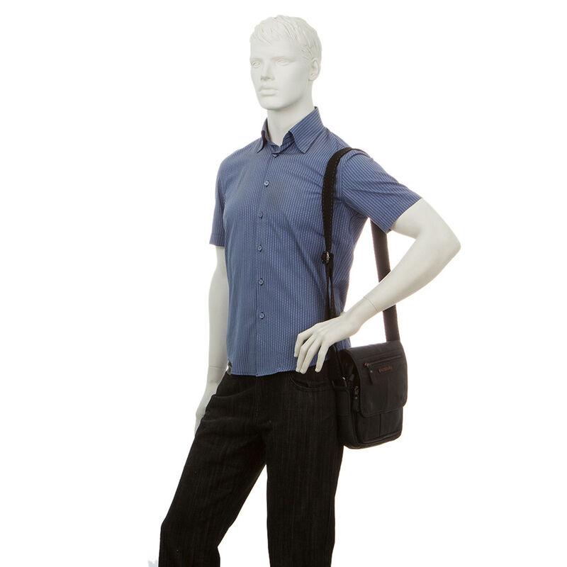 Магазин сумок Poshete Сумка мужская черная 196-1464-9 - фото 2