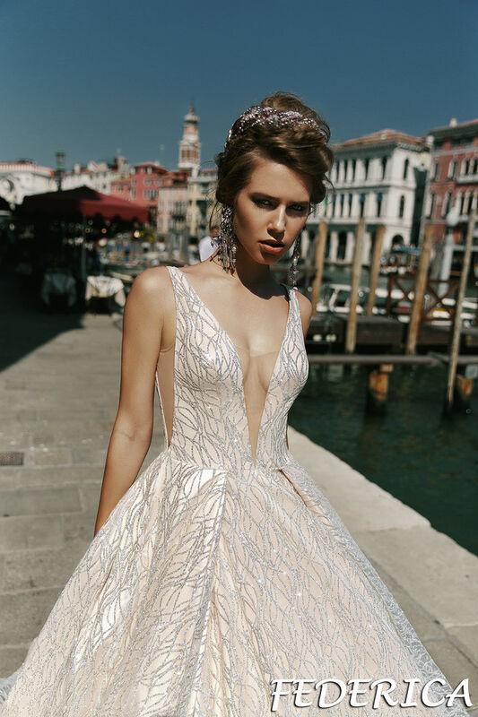 Свадебный салон Bonjour Galerie Свадебное платье Federica из коллекции La Douceur - фото 2