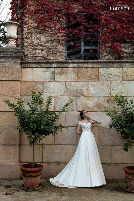 Свадебное платье напрокат Bonjour Платье свадебное «Filomena» из коллекции LA POESIE 2017 - фото 2
