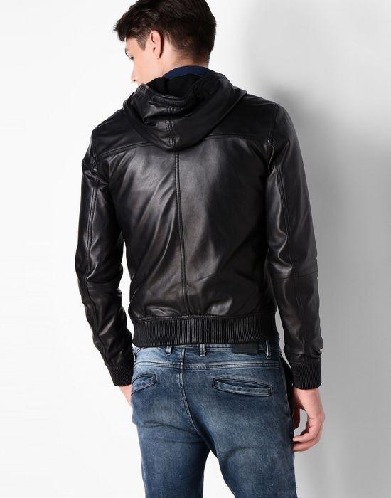 Верхняя одежда мужская Trussardi Кожаная куртка-бомбер мужская 52S02 _510070 - фото 3