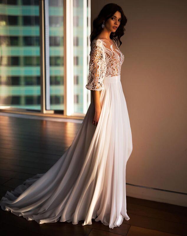Свадебное платье напрокат Natalia Romanova Свадебное платье  Sheyla - фото 3