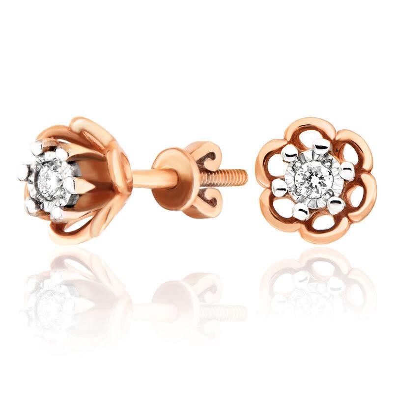 Ювелирный салон Jeweller Karat Серьги золотые с бриллиантами арт. 3223035/9 - фото 1