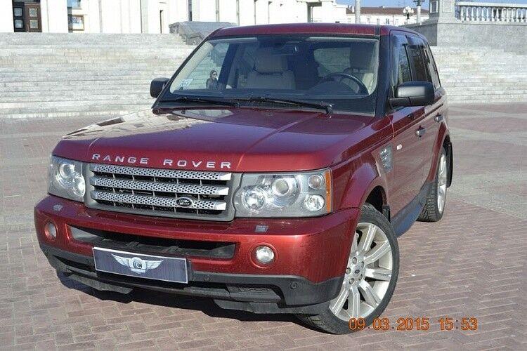 Прокат авто Range Rover Sport бордового цвета - фото 2