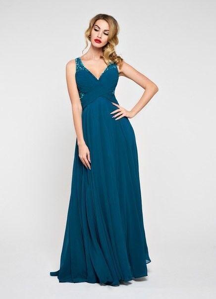 Вечернее платье Jan Steen Вечернее платье 0896 (морская волна) - фото 1