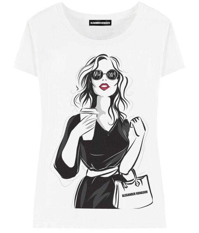 Кофта, блузка, футболка женская ALEXANDER KONASOV Футболка женская 6 - фото 1