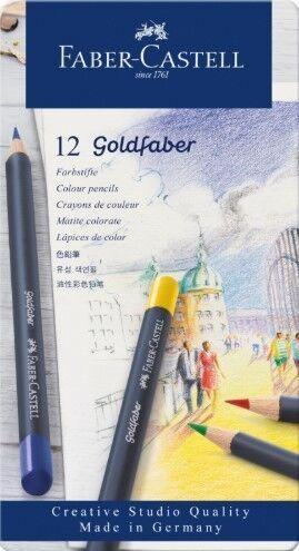 Товар для рукоделия Faber-Castell Цветные карандаши «Goldfaber» - фото 1