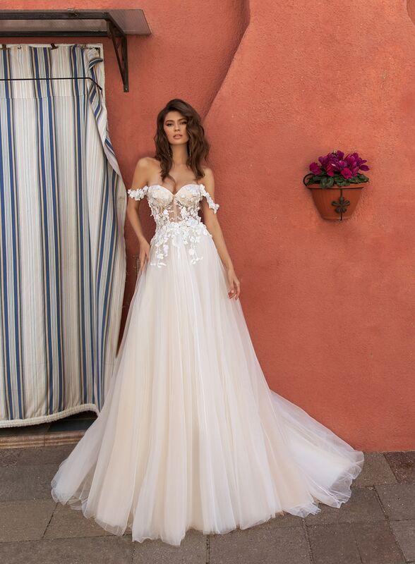 Свадебный салон ALIZA свадебное платье  Mareshina прокат - фото 1