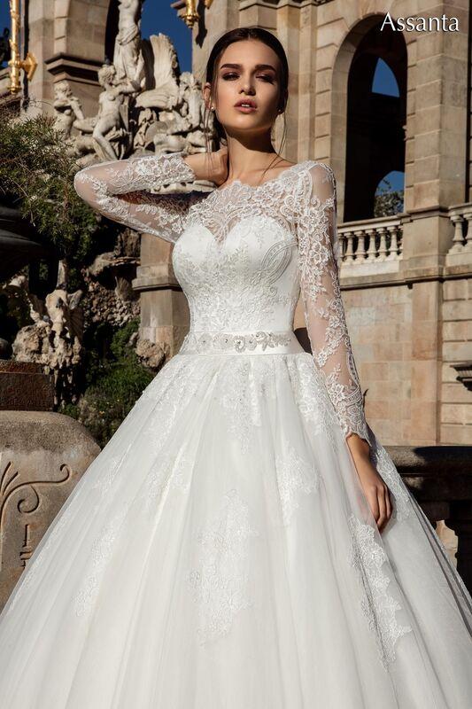 Свадебное платье напрокат Bonjour Платье свадебное «Assanta» из коллекции LA POESIE 2017 - фото 1