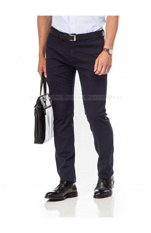 Брюки мужские Keyman Брюки мужские чинос темно-синие - фото 1