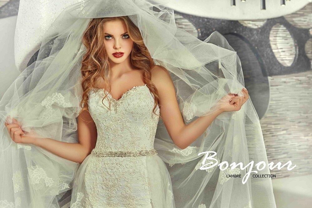 Свадебное платье напрокат Bonjour Платье свадебное «Olivia» из коллекции LAMBRE 2017 - фото 4