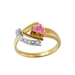 Ювелирный салон jstudio Золотое кольцо с различными фианитами 10274 - фото 1
