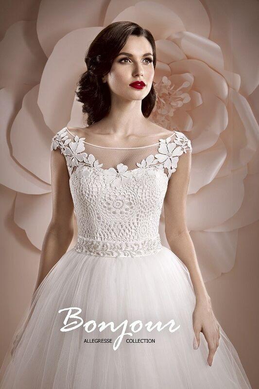 Свадебное платье напрокат Bonjour Платье свадебное «Edera» из коллекции ALLEGRESSE 2017 - фото 2