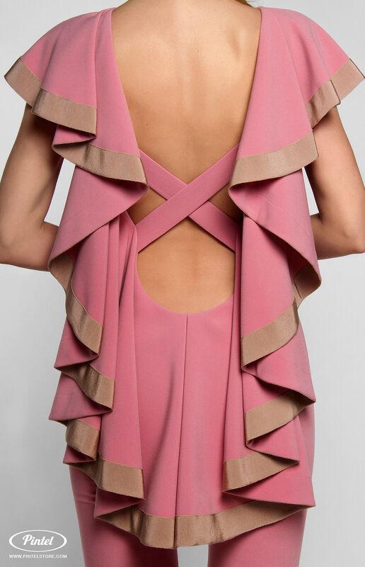 Брюки женские Pintel™ Приталенный розовый макси-комбинезон Linnea - фото 7