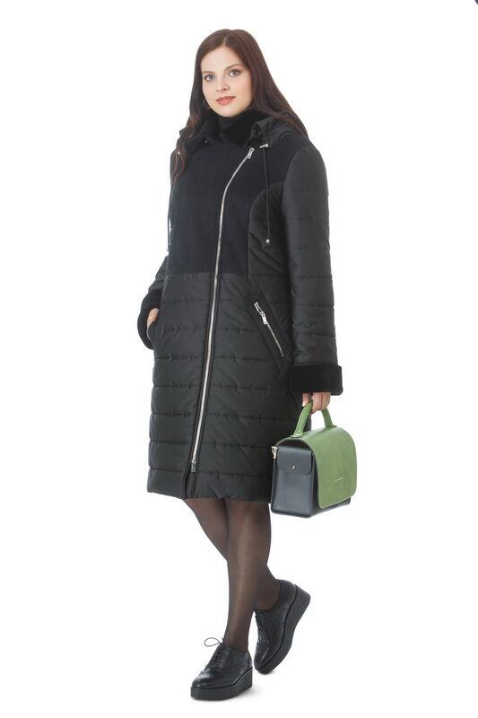 Верхняя одежда женская Elema Пальто женское плащевое утепленное Т-5997(2017) - фото 1
