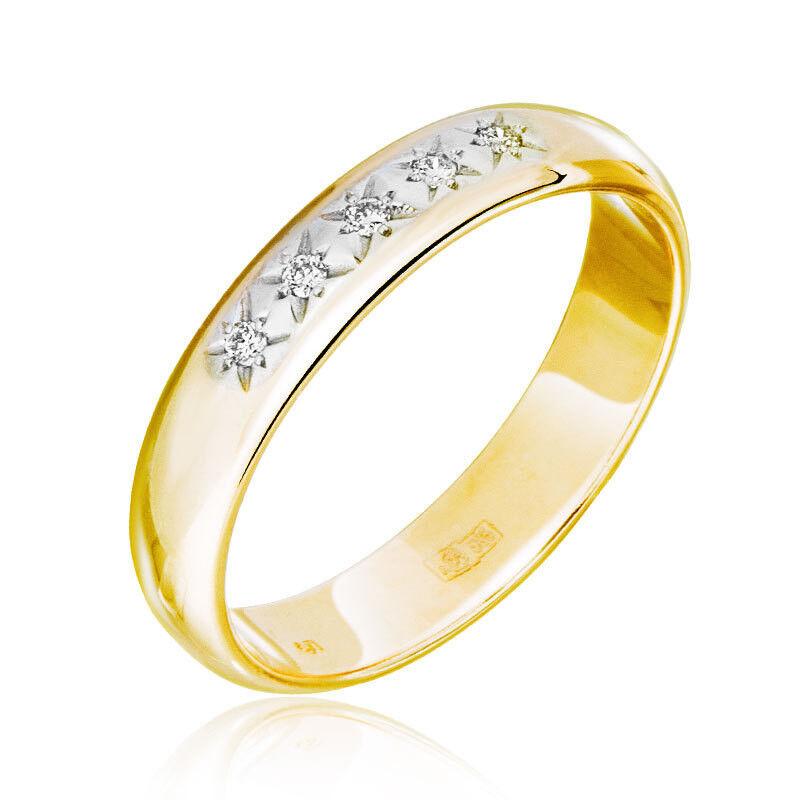 Ювелирный салон Jeweller Karat Кольцо обручальное с бриллиантами арт. 1212182 - фото 1