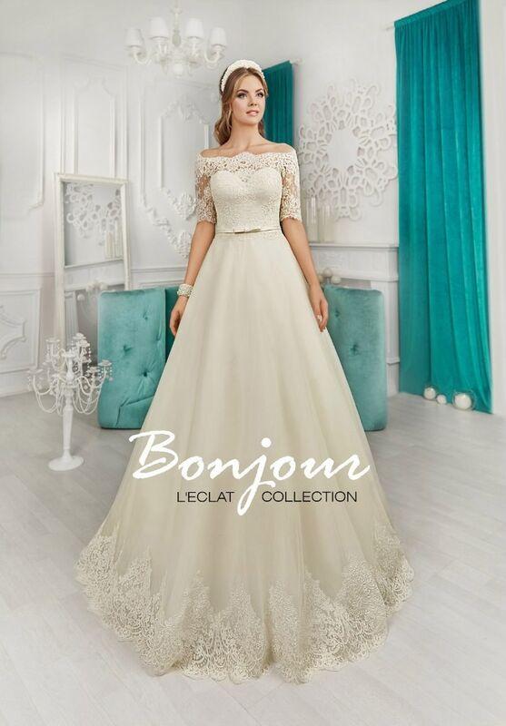 Свадебное платье напрокат Bonjour Платье свадебное «Brina» из коллекции L'ECLAT 2016 - фото 1
