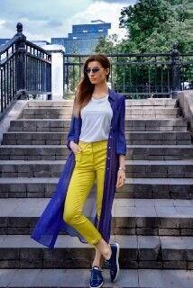Кофта, блузка, футболка женская It's me! (Это Я!) Кардиган в синем цвете - фото 1