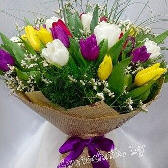 Магазин цветов Цветочник Яркий букет из тюльпанов - фото 1