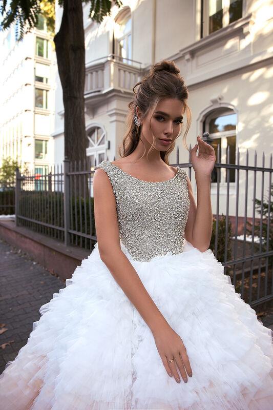 Свадебное платье напрокат Vanilla room Платье свадебное Луна - фото 1