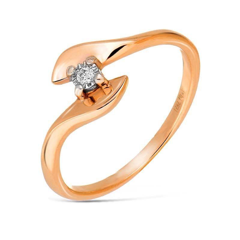 Ювелирный салон Jeweller Karat Кольцо золотое с бриллиантами арт. 3213188/9 - фото 1