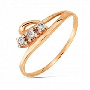 Ювелирный салон Jeweller Karat Кольцо золотое с бриллиантами арт. 3213228/9 - фото 1