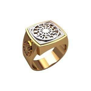 Ювелирный салон jstudio Печатка золотая с узором 30231 - фото 1