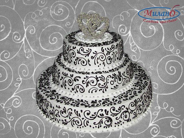 Торт Милано Свадебный торт №13 - фото 2