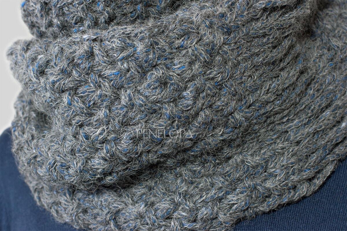 Шарф и платок PENELOPA Шарф-снуд «Cерый твид» M94 - фото 2