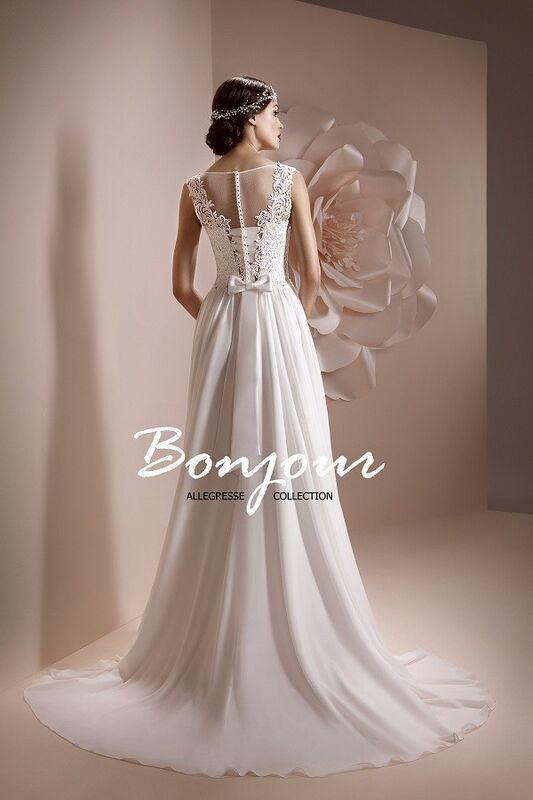 Свадебное платье напрокат Bonjour Платье свадебное «Lerdes» из коллекции ALLEGRESSE 2017 - фото 4