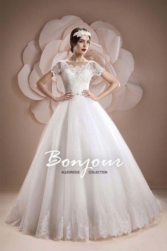 Свадебное платье напрокат Bonjour Платье свадебное «Oris» из коллекции ALLEGRESSE 2017 - фото 1