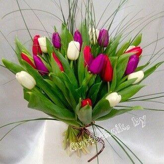 Магазин цветов Цветочник Букет из 21 тюльпана - фото 1