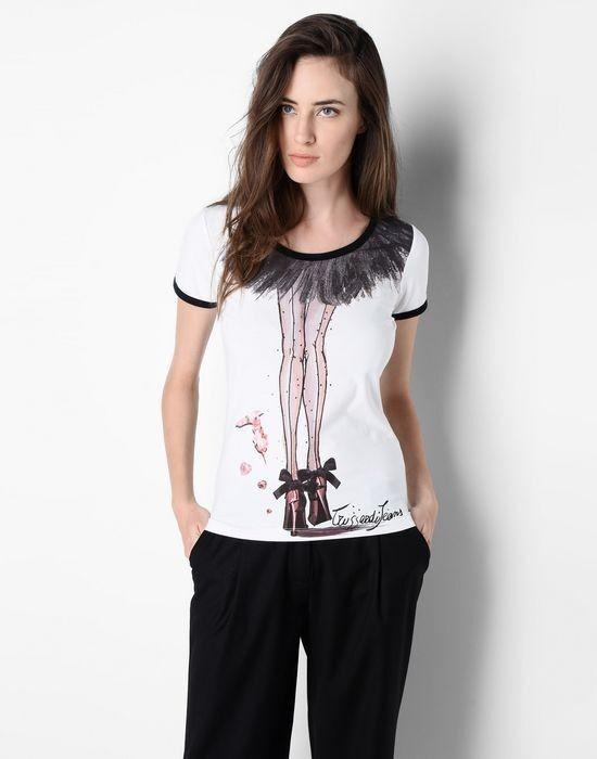 Кофта, блузка, футболка женская Trussardi Футболка женская 56T58 _5156T5 - фото 2