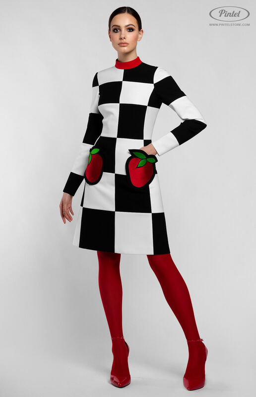 Платье женское Pintel™ Приталенное оп-арт мини-платье TAMÖNIC - фото 2