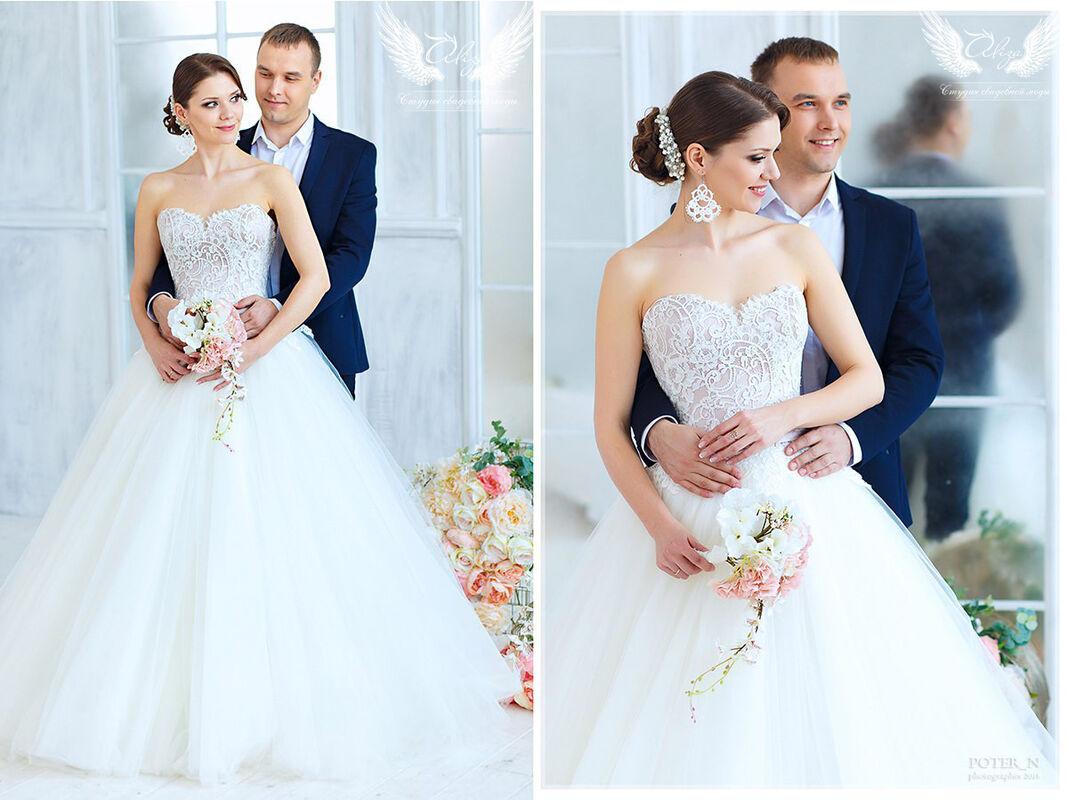 Свадебное платье напрокат ALIZA Платье свадебное «Amor» Soffito - фото 2