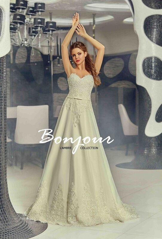 Свадебный салон Bonjour Galerie Свадебное платье «Carmen» из коллекции LAMBRE - фото 2