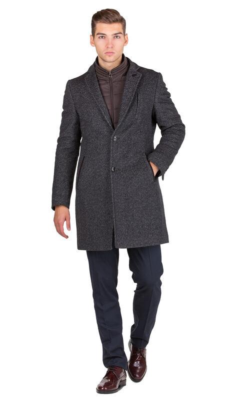 Верхняя одежда мужская HISTORIA Пальто серо-коричневое утепленное C.GrBr.M.cri001 - фото 1