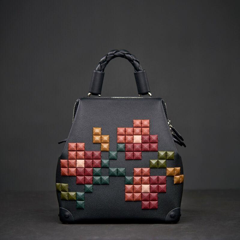 """Магазин сумок PANASKIN Сумка жен. """"Рюкзак с цветными камнями"""", черный - фото 1"""