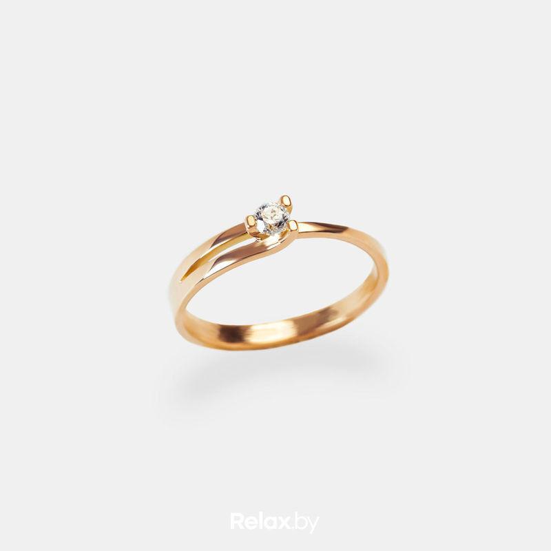 Ювелирный салон Белорусские Бриллианты Кольцо из золота со вставкой фианит 21020001 - фото 1