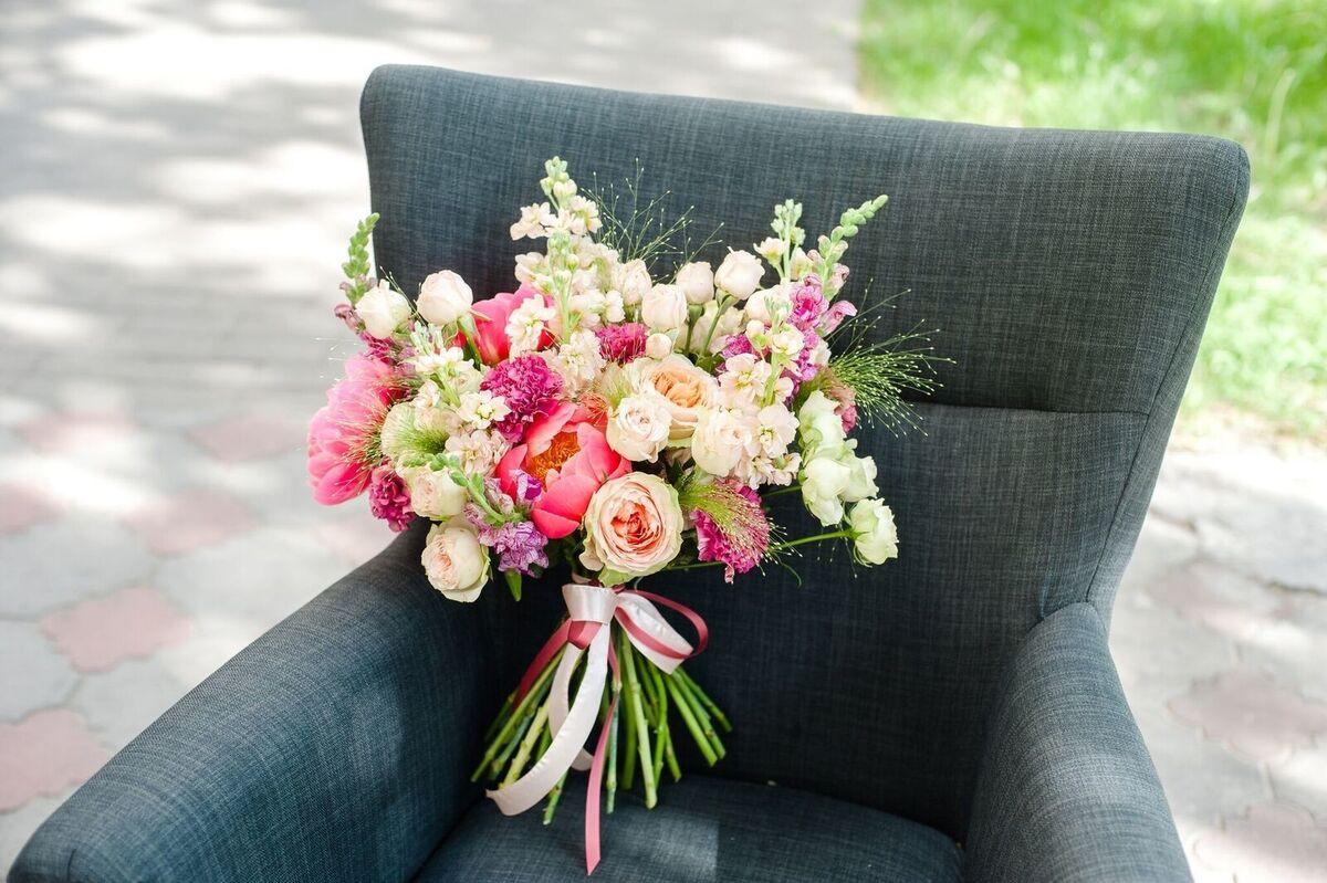 Магазин цветов Цветы на Киселева Букет «Коралловый бриз» - фото 1