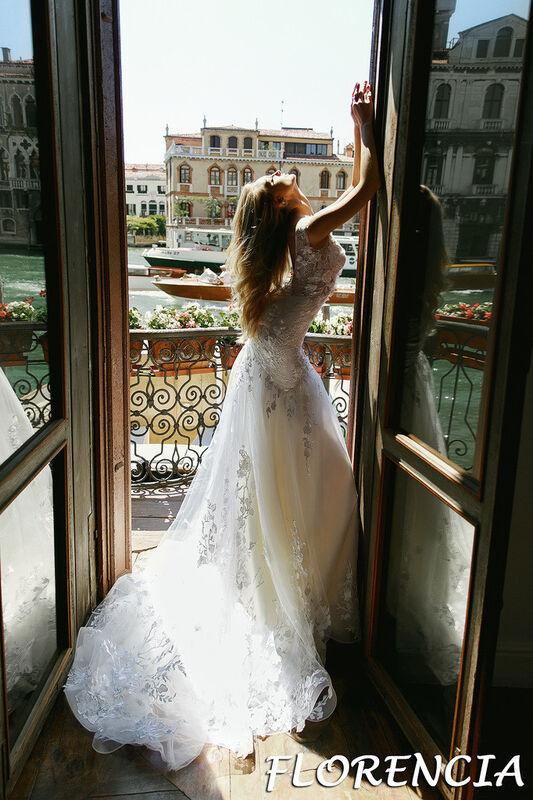 Свадебный салон Bonjour Galerie Свадебное платье Florencia из коллекции La Douceur - фото 4