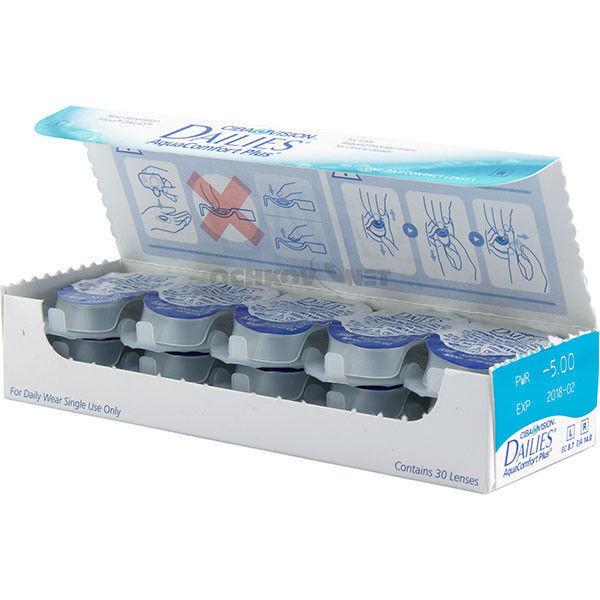 Линзы CIBA Vision Контактные линзы Dailies Aqua Comfort Plus c - фото 2
