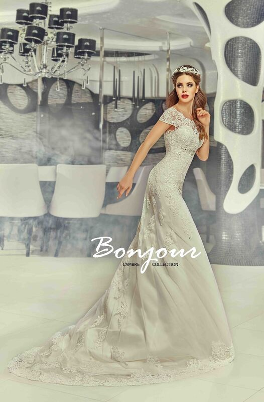 Свадебное платье напрокат Bonjour Платье свадебное «Jessi» из коллекции LAMBRE 2017 - фото 5