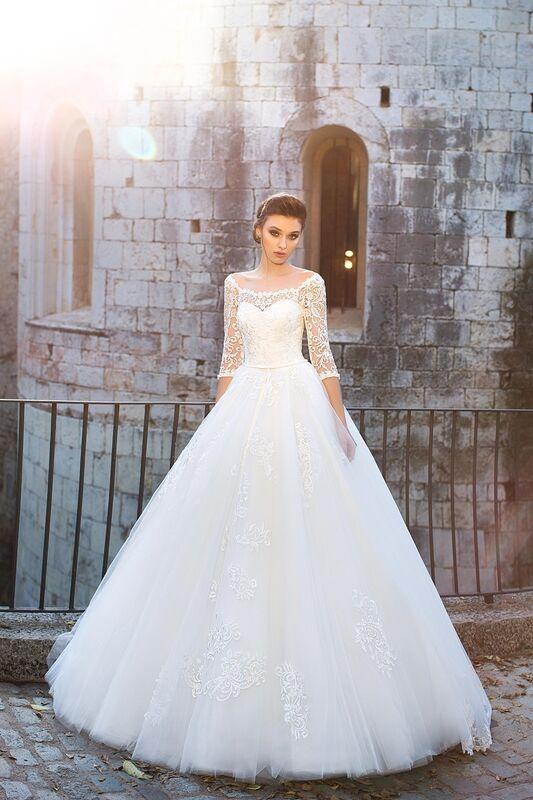 Свадебное платье напрокат Bonjour Платье свадебное «Adelfa» из коллекции LA SENSUALITE 2017 - фото 3