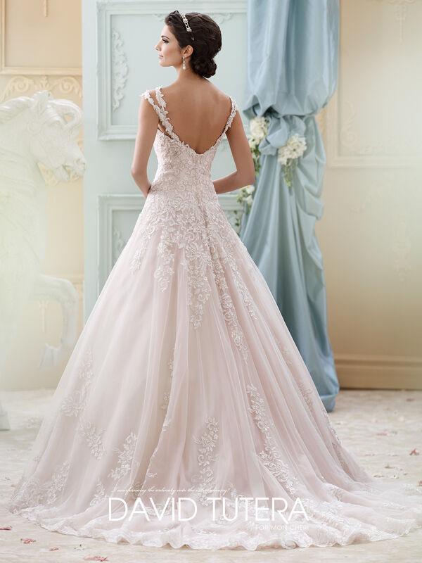 Свадебное платье напрокат David Tuttera Свадебное платье 215277 Arwen - фото 2