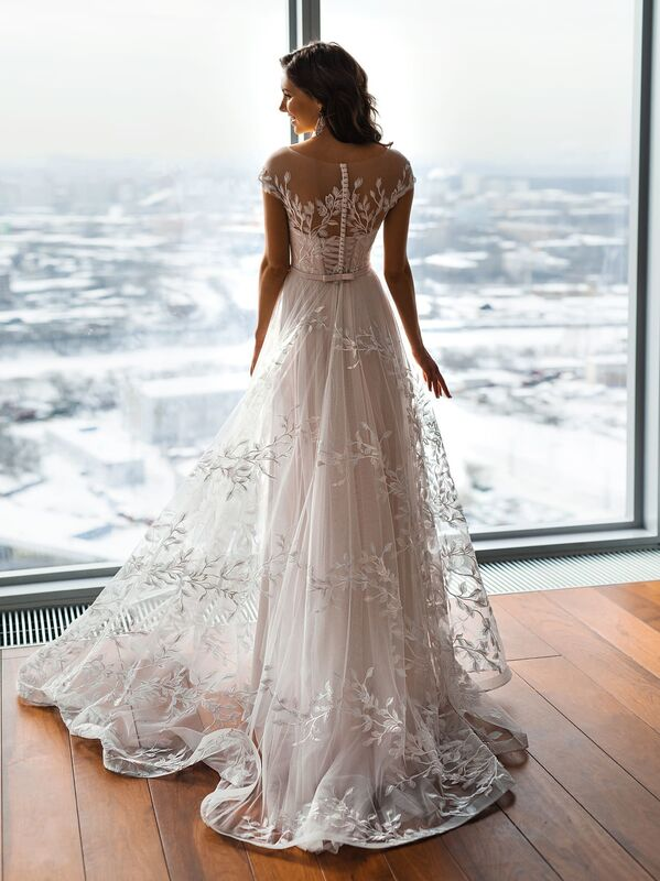 Свадебное платье напрокат Natalia Romanova Свадебное платье  Eliya - фото 3