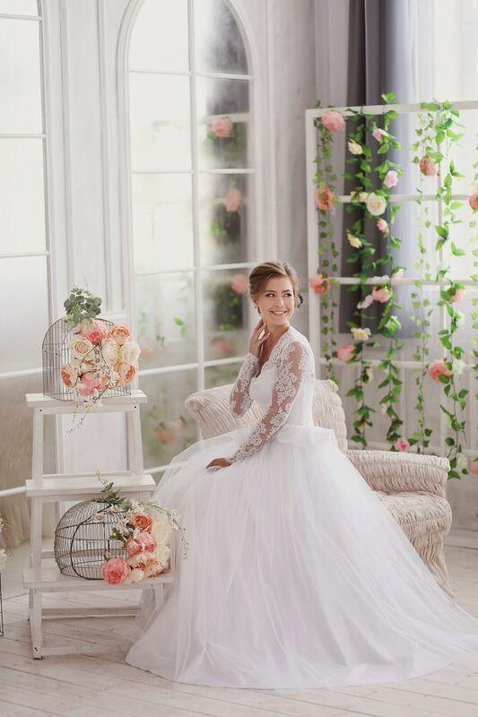Свадебное платье напрокат ALIZA Платье свадебное «Kler» Soffito - фото 3