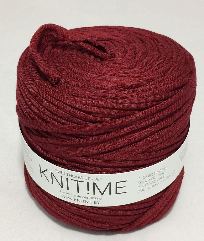 Товар для рукоделия Knit!Me Ленточная пряжа Sweetheart Jersey - Гранат (SJ112) - фото 1