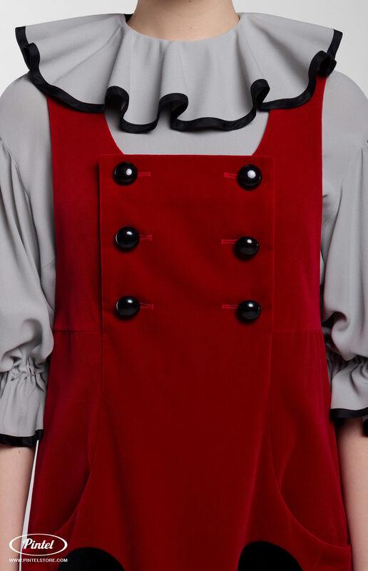 Костюм женский Pintel™ Костюм из блузы и бархатного сарафана Henriksuü - фото 4