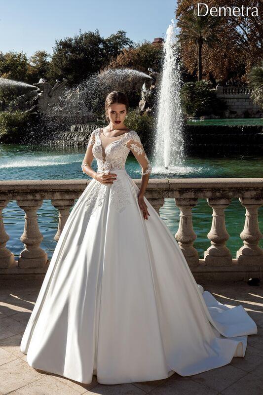Свадебный салон Bonjour Свадебное платье «Demetra» из коллекции LA POESIE 2017 - фото 1
