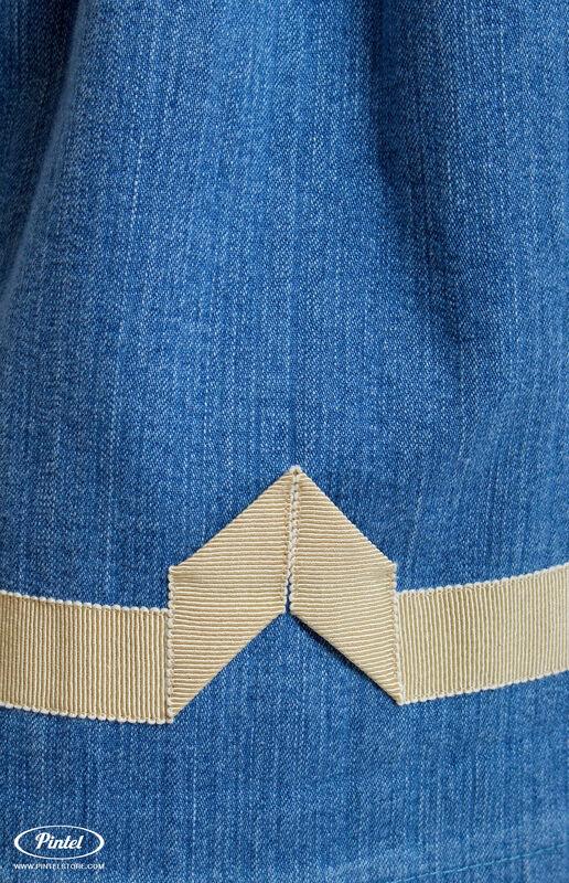 Платье женское Pintel™ Джинсовое платье приталенного силуэта с воланами Miranttu - фото 2